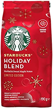 Starbucks Holiday Blend - Medium Roast Ground Coffee, 190g