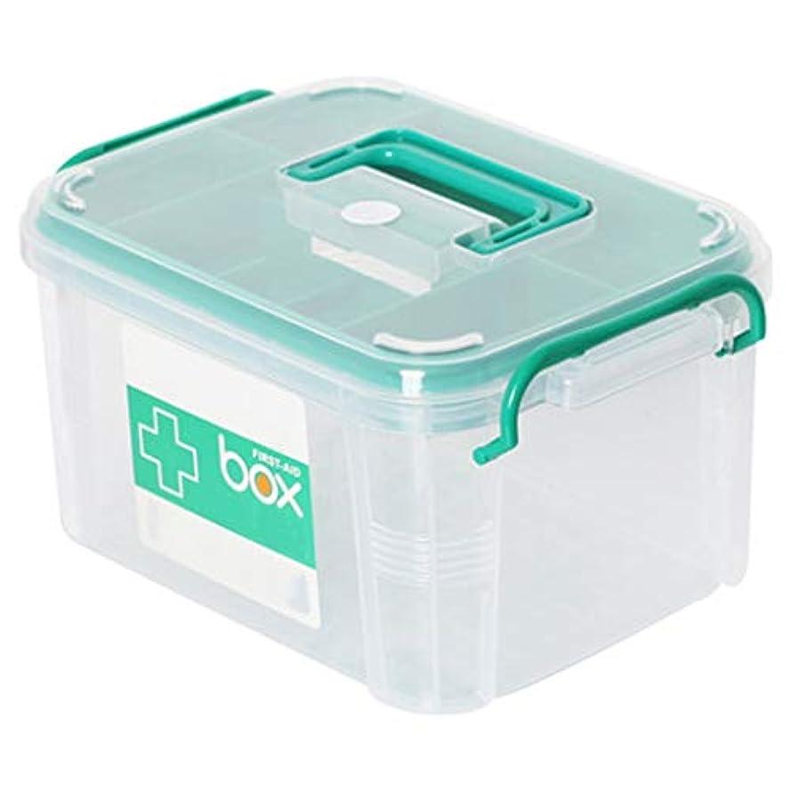 機関有害なパイロットLLSDD 家庭用薬品箱二重収納箱救急箱医療製品収納箱プラスチック救急箱 (Size : 26.5x18.5x14.5cm)