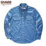 (カムコ) CAMCO 長袖 シャンブレーシャツ ワークシャツ フラップポケット仕様 メンズ Mサイズ