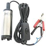 12V 小型 水中ポンプ 12L/min ケーブル 3m スイッチ式 バッテリー クランプ 給油 灯油 給水 海水 船舶 水槽 汚水 電動 電源 (12V 12L/min)