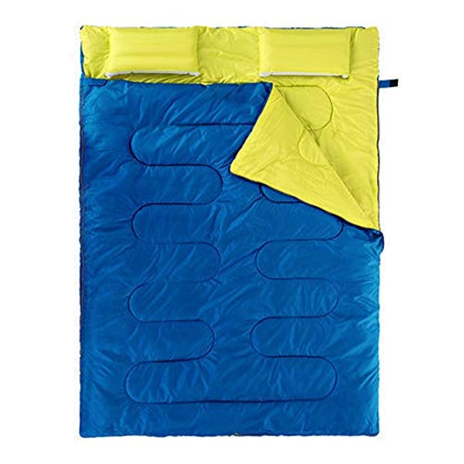 そよ風季節汚染された防災寝袋封筒タイプ防水低木キャンプ簡単収納クライミングマウンテンクライミングナイト用 (Color : E ブルー, Size : One Size)