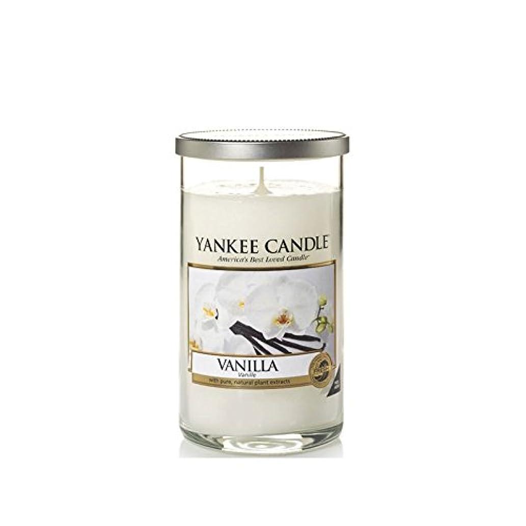 Yankee Candles Medium Pillar Candle - Vanilla (Pack of 2) - ヤンキーキャンドルメディアピラーキャンドル - バニラ (x2) [並行輸入品]