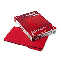 リサイクルフォルダ、1インチ拡張、1/ 3トップタブ、法的、明るい赤、25/ボックス