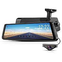AUTO-VOX X1pro ドライブレコーダー デジタルインナーミラー スマートルームミラーモニター 交換式一体型 前後カメラ常時録画 駐車監視 Full HD WDR 暗視機能 車線逸脱警報 GPS速度測定 防水構造 1年保証