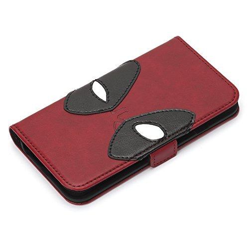 iPhone 8/7/6s/6用 MARVELフリップカバー(デッドプール/レッド)DEADPOOL Case Series PGA PG-DFP400RD
