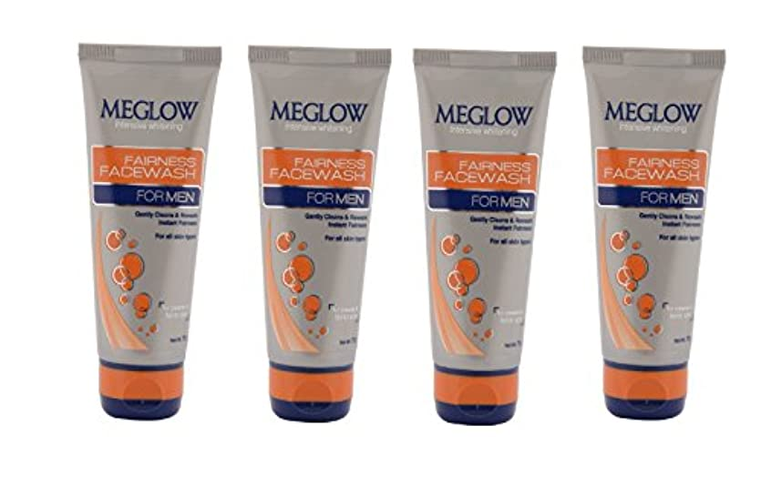 かまどブレイズ外観Meglow Intensive Whitening Fairness Face Wash For Men 70 G (Pack of 4)