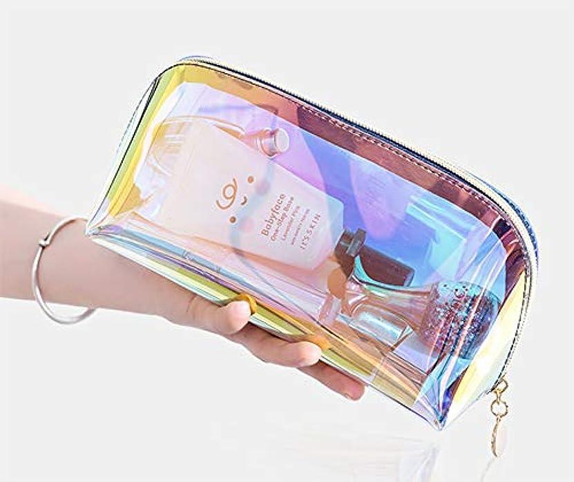 早熟ホップはぁBUBMメイク 収納 メイクブラシポーチ化粧品 収納防水透明メッシュ温泉、ビーチサイド旅行、出張 (LARGE)