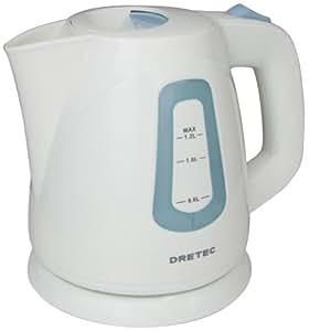 DRETEC 電気ケトル 「セイロン」 1.2L ブルー PO-108BL