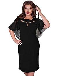 79be5bb665d93 GODTOON ドレス ワンピース 超大きサイズ 6Lまで レディース 洋服 パーティー 披露宴 結婚式 二次会