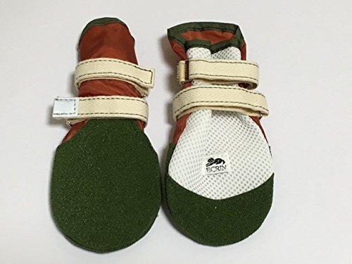 わんちゃんの快適な靴 Newロングタイプ7号サイズ ブラウン 地面についている肉球の最後から爪の先までの長さが9cmから9.5cmまでの犬の靴