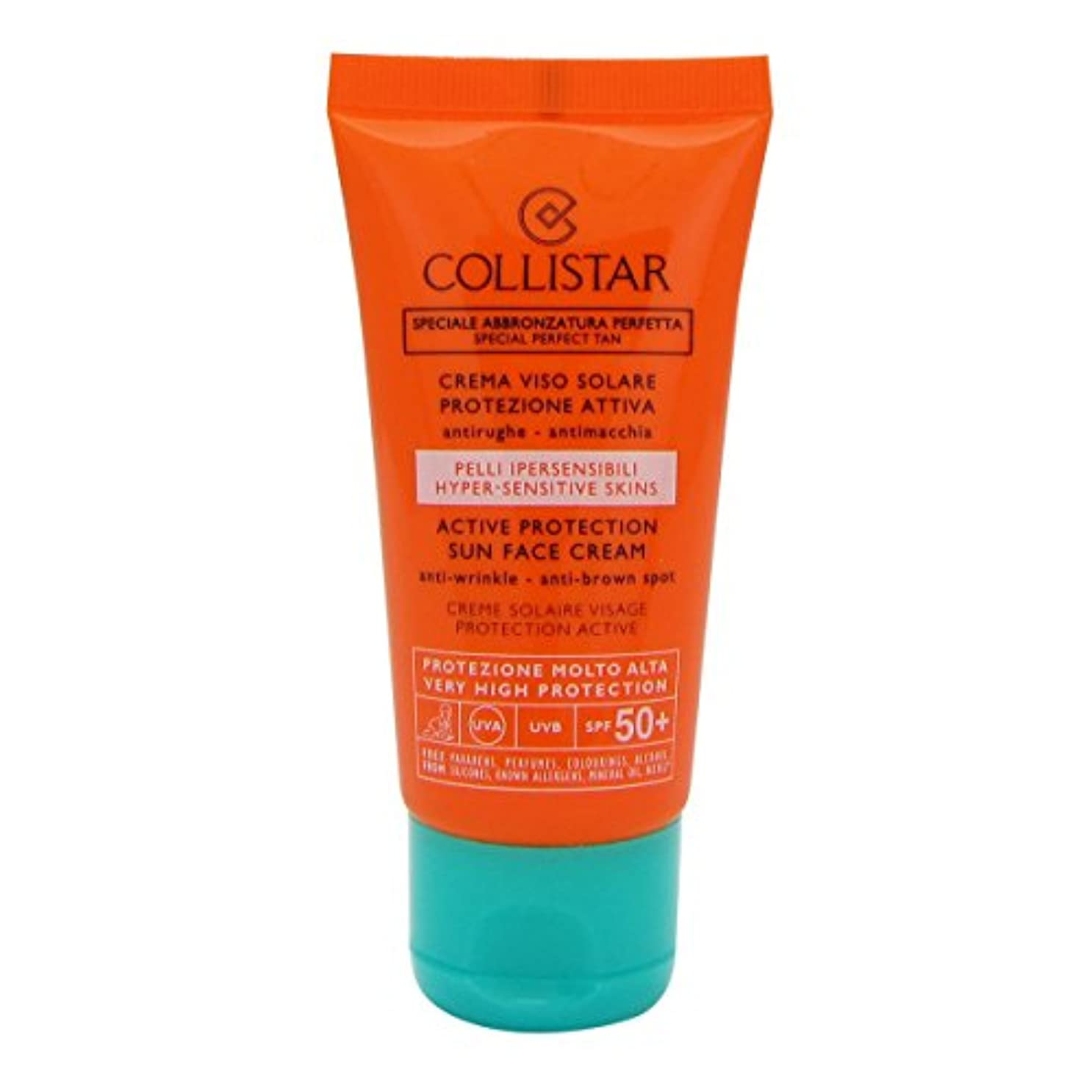 長くする歯車超えるCollistar Special Perfect Tan Active Protection Sun Face Cream Spf50+ 50ml [並行輸入品]