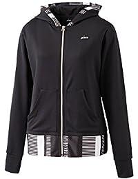 プリンス(prince) テニスウェア レディース フードジャケット WL7151 165:ブラック L