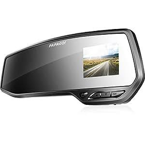 PAPAGO 国内正規販売品 送料無料 ミラー型&上下左右可動式カメラレンズ採用のGセンサー搭載フルHD高画質ドライブレコーダー「GoSafe 372」GS372-8G GS372-8G