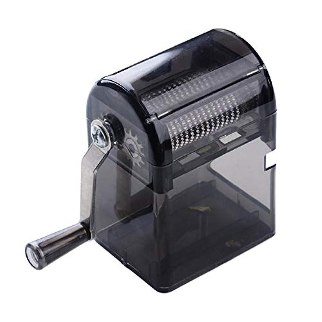 ケープ抵抗忘れるSaikogoods シンプルなデザイン手回しタバコグラインダー耐久性のある利用タバコハーブスパイスクラッシャーマニュアルミュラータバコ用品 黒