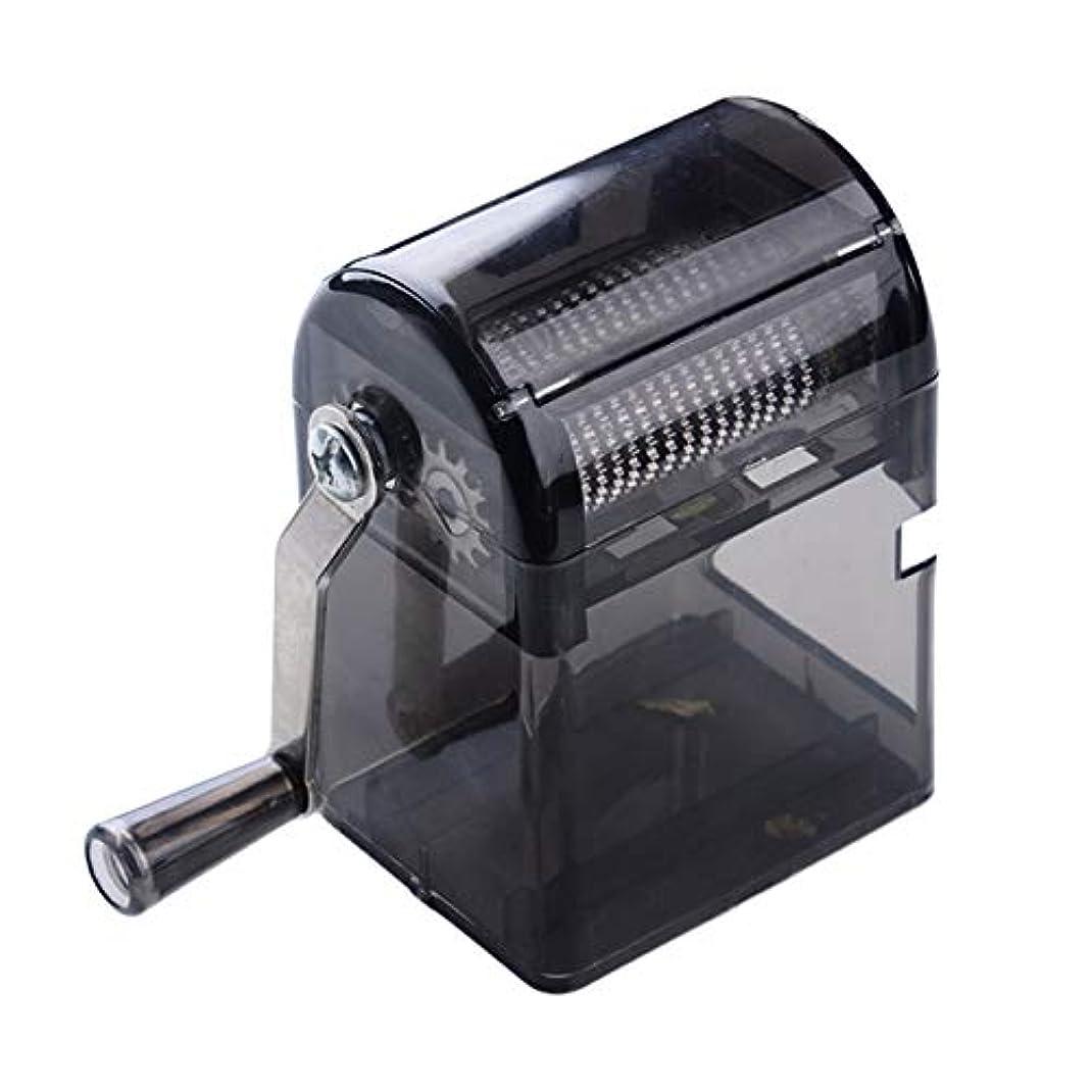 ブルジョンパーツ感情Saikogoods シンプルなデザイン手回しタバコグラインダー耐久性のある利用タバコハーブスパイスクラッシャーマニュアルミュラータバコ用品 黒