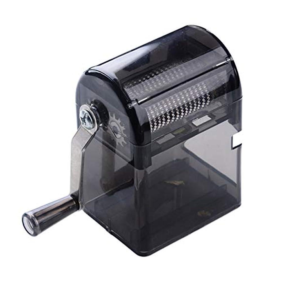 初期の円形の忌まわしいSaikogoods シンプルなデザイン手回しタバコグラインダー耐久性のある利用タバコハーブスパイスクラッシャーマニュアルミュラータバコ用品 黒