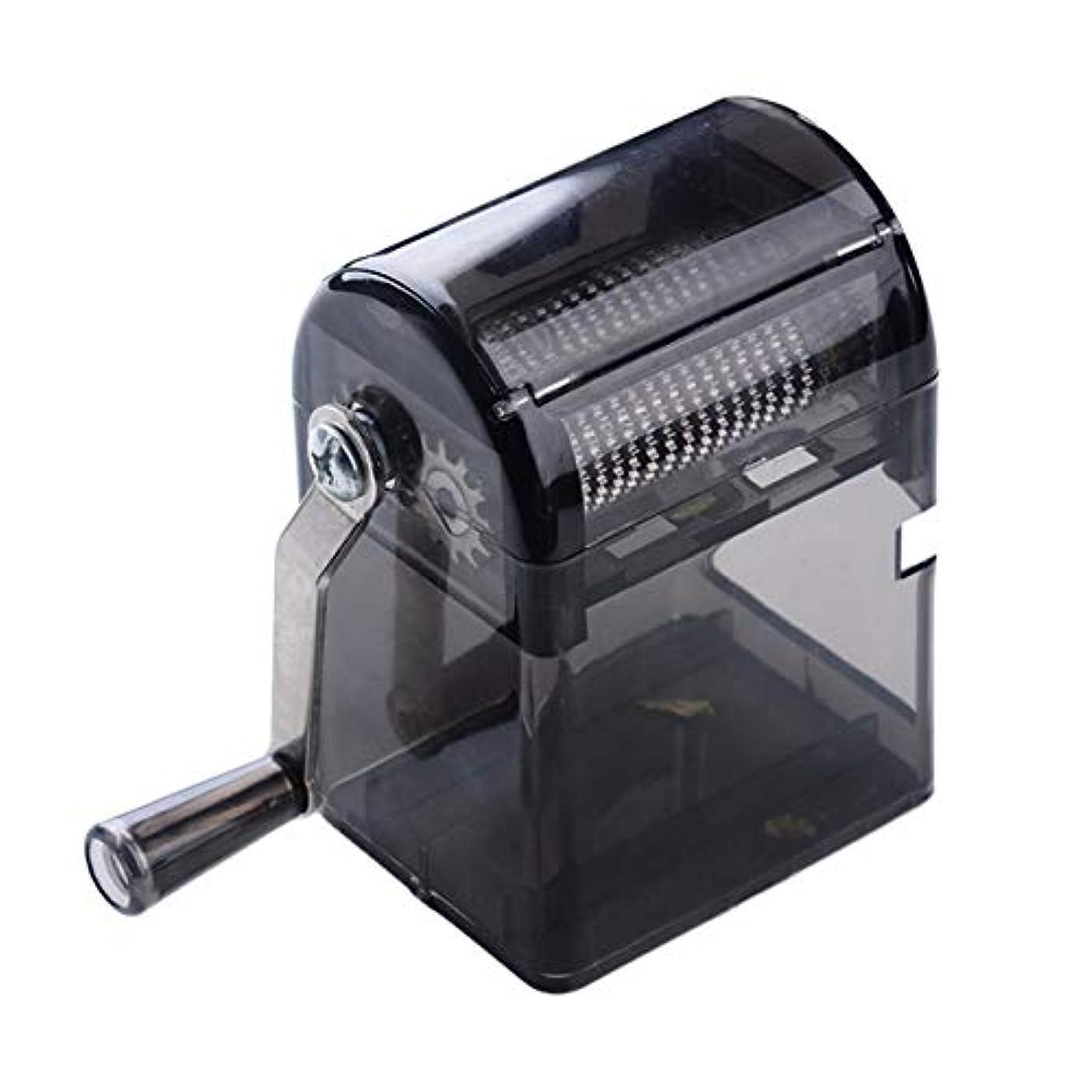 混乱した教えるゴシップSaikogoods シンプルなデザイン手回しタバコグラインダー耐久性のある利用タバコハーブスパイスクラッシャーマニュアルミュラータバコ用品 黒