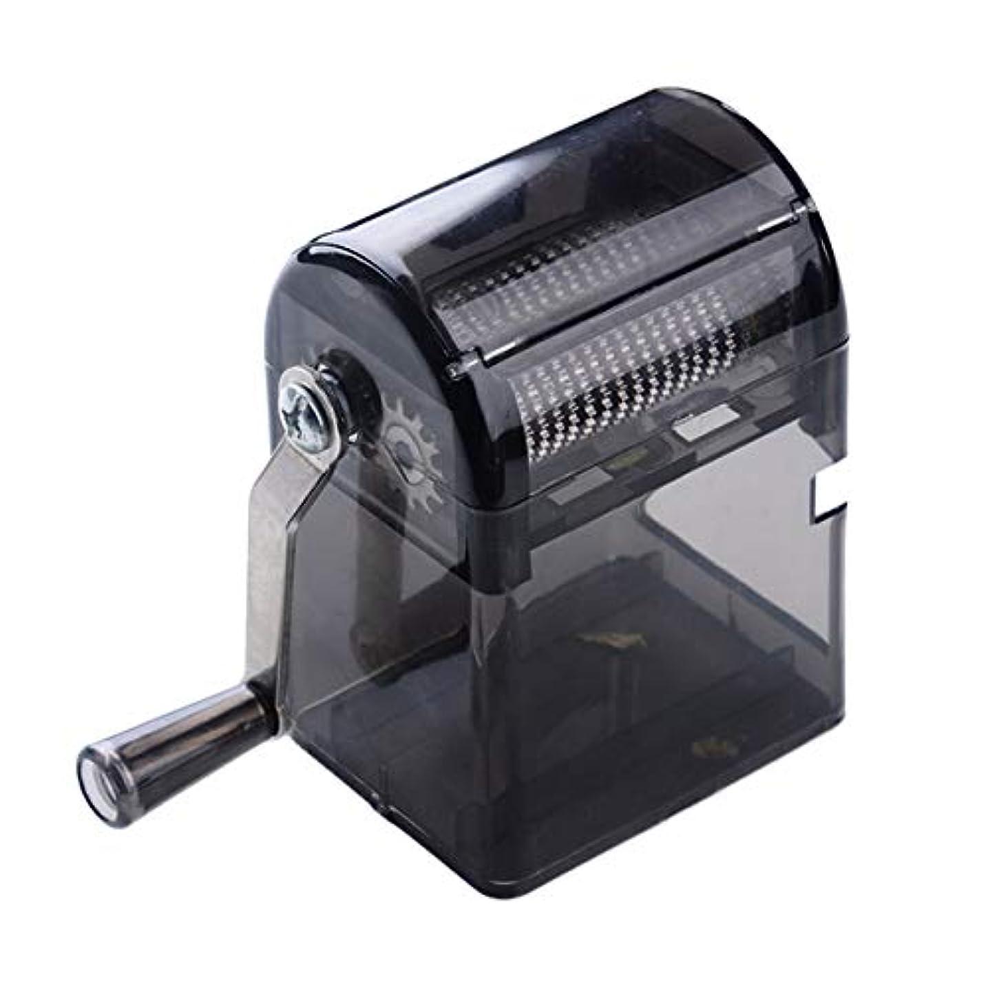 トレイブラジャー下にSaikogoods シンプルなデザイン手回しタバコグラインダー耐久性のある利用タバコハーブスパイスクラッシャーマニュアルミュラータバコ用品 黒