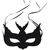 Baosity ハロウィーン 仮面舞会 ツバメ形状 アイマスク リボン付き コスプレ アクセサリー 神秘  黒