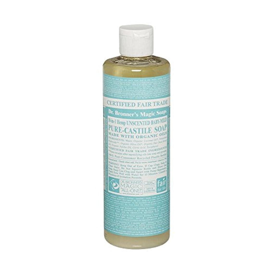 おとこ連続的長老Dr Bronner Unscented BabyMild Pure Castile Soap (Pack of 6) - Drのブロナー無香Babymild純粋なカスティーリャ石鹸 (x6) [並行輸入品]