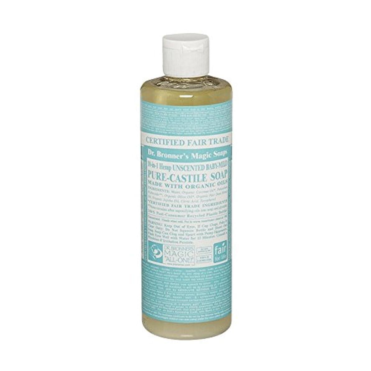 法的つかいますグラフィックDr Bronner Unscented BabyMild Pure Castile Soap (Pack of 6) - Drのブロナー無香Babymild純粋なカスティーリャ石鹸 (x6) [並行輸入品]