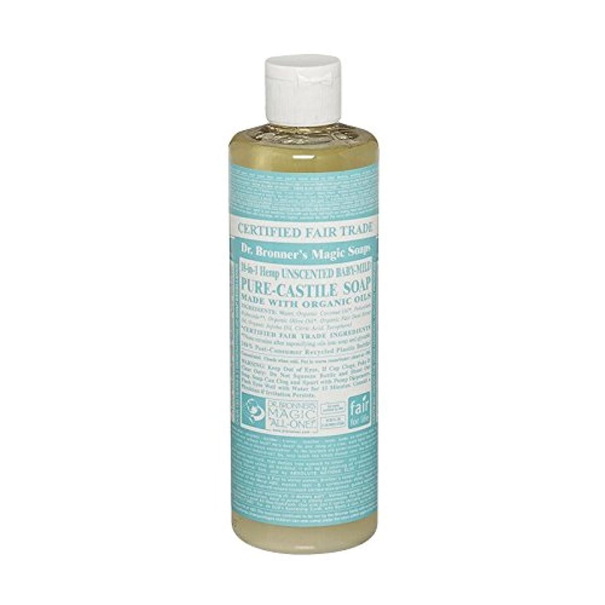ストリーム癒す四回Dr Bronner Unscented BabyMild Pure Castile Soap (Pack of 6) - Drのブロナー無香Babymild純粋なカスティーリャ石鹸 (x6) [並行輸入品]