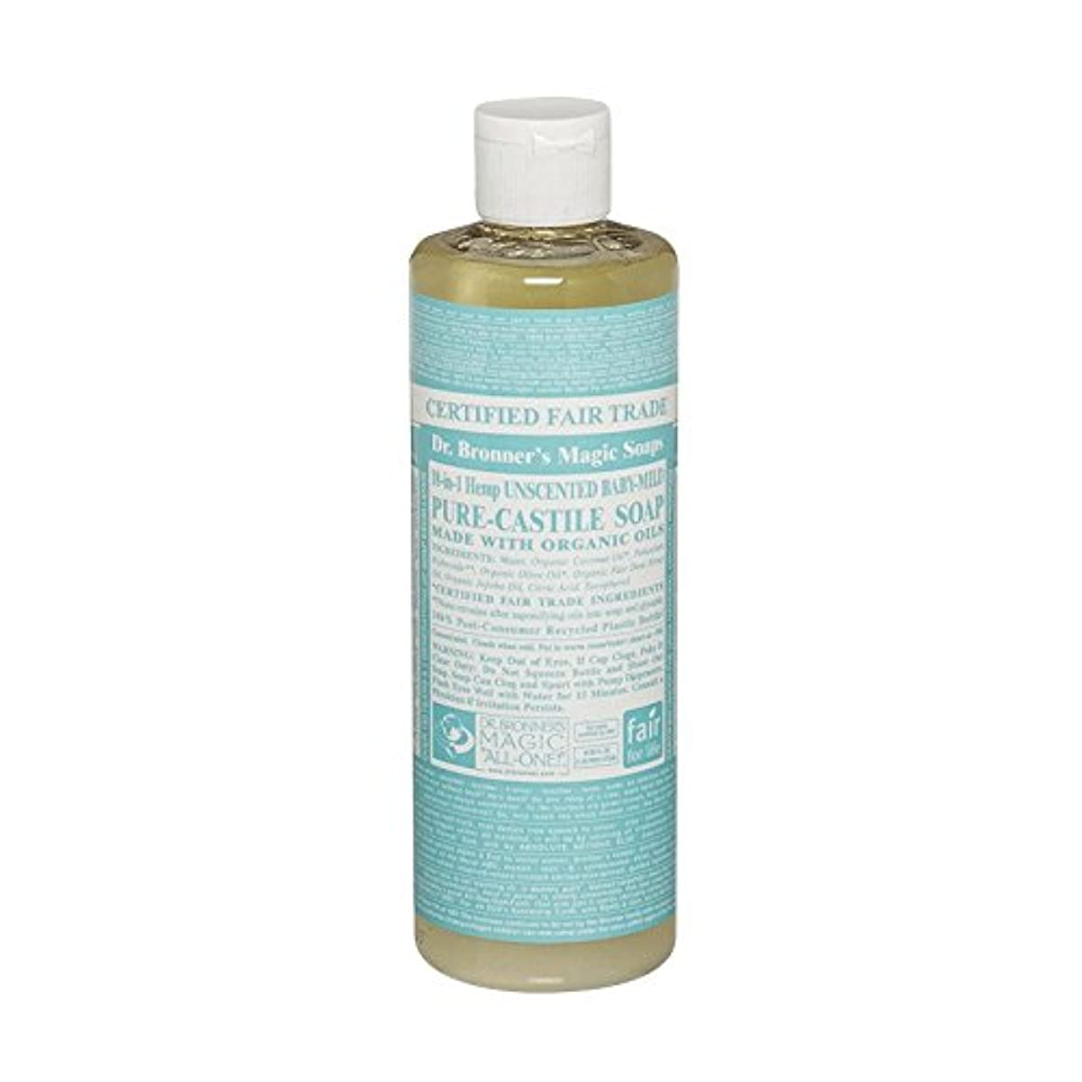 尽きる泥だらけ読みやすさDr Bronner Unscented BabyMild Pure Castile Soap (Pack of 6) - Drのブロナー無香Babymild純粋なカスティーリャ石鹸 (x6) [並行輸入品]