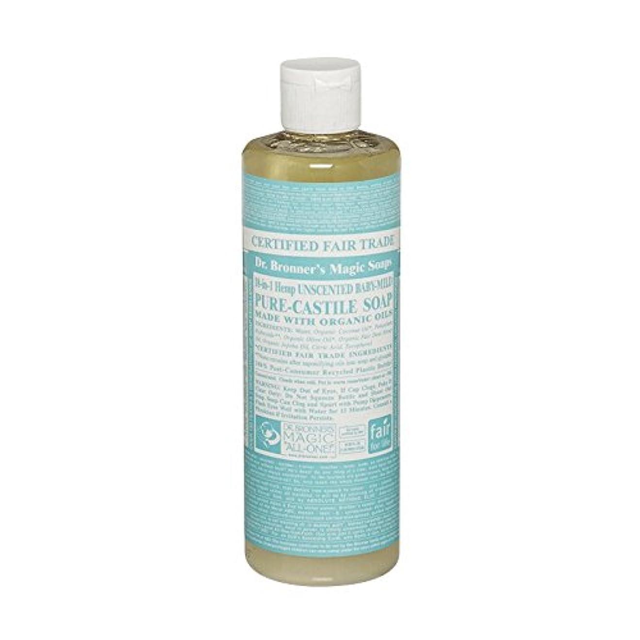 残る慣習背の高いDr Bronner Unscented BabyMild Pure Castile Soap (Pack of 6) - Drのブロナー無香Babymild純粋なカスティーリャ石鹸 (x6) [並行輸入品]