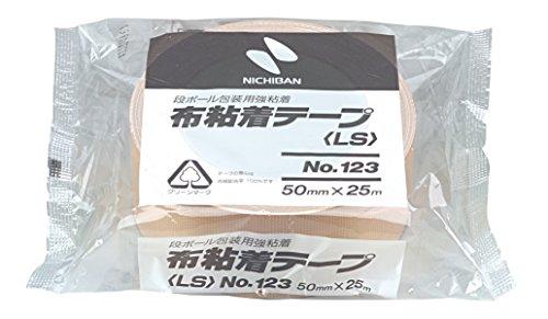 ニチバン 布テープ 50mm×25m巻 123LW-50 黄土
