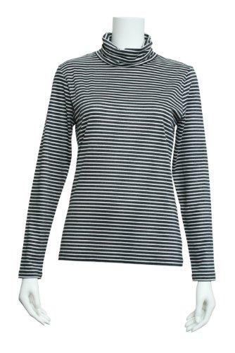 ラメボーダーハイネックTシャツ エーシーデザイン バイ アルファキュービック