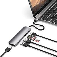 Satechi V2 スリム マルチ USBハブ Type-C 4K HDMI, カードリーダー, USBポート3.0x2(2018 MacBook Pro/Air, 2018 iPad Pro, Microsoft Surface Go など対応)(スペースグレイ)