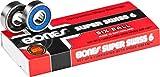 BONES BEARINGS 【ボーンズ】 スケートボード ベアリング SUPER SWISS 6BALL 【スーパースイス 6ボール】 スケボー sk8