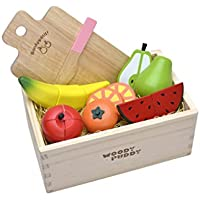Woody Puddy Fruit Set in a Box By Actus [並行輸入品]