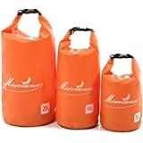 (Miwoluna) 防水バッグ リュックとして使える 左右両肩から吊り下げ可能 PVC素材 ドライチューブ アウトドア ビーチバック マリンスポーツ カヌー 海水浴 防災 避難