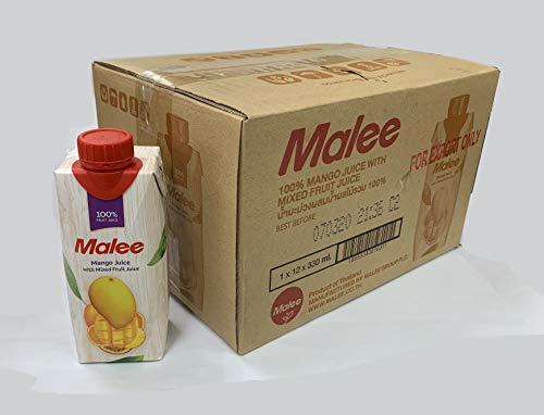 Malee ( マリー ) マンゴーミックスジュース 100% ( 330ml 12本セット) マンゴー パイナップル オレンジ パッションフルーツ ミックスジュース フルーツジュース