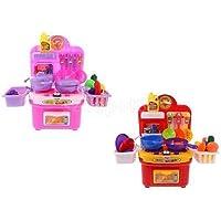 2setsシミュレーションキッチン料理アクセサリーKid Play Houseおもちゃ調理器具セット