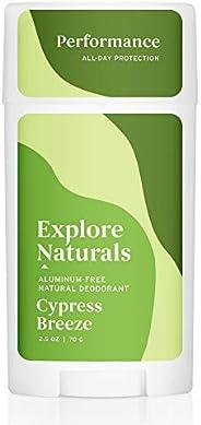 Explore Naturals Deodorant - Cypress Breeze - Natural Deodorant for Women and Men - Cruelty free, Aluminum Fre