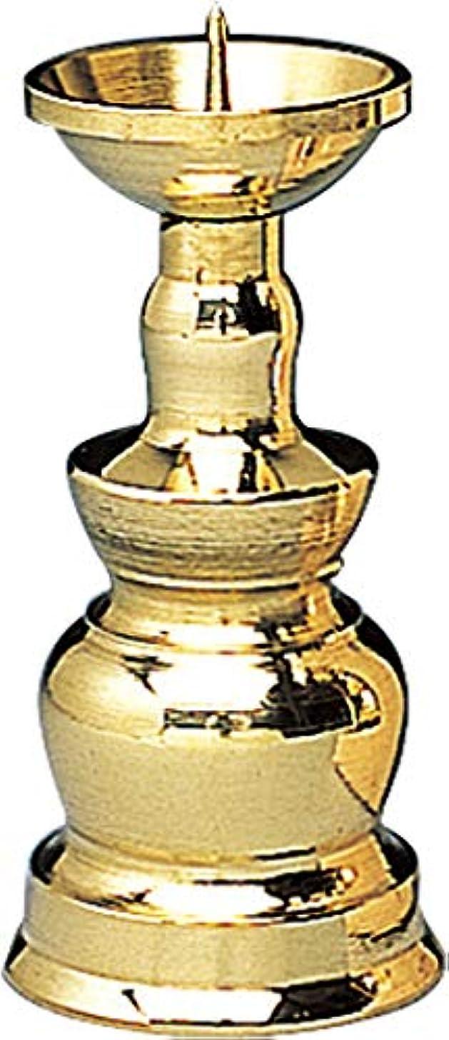 法令キリンドナー真鍮ローソク立 2.5寸