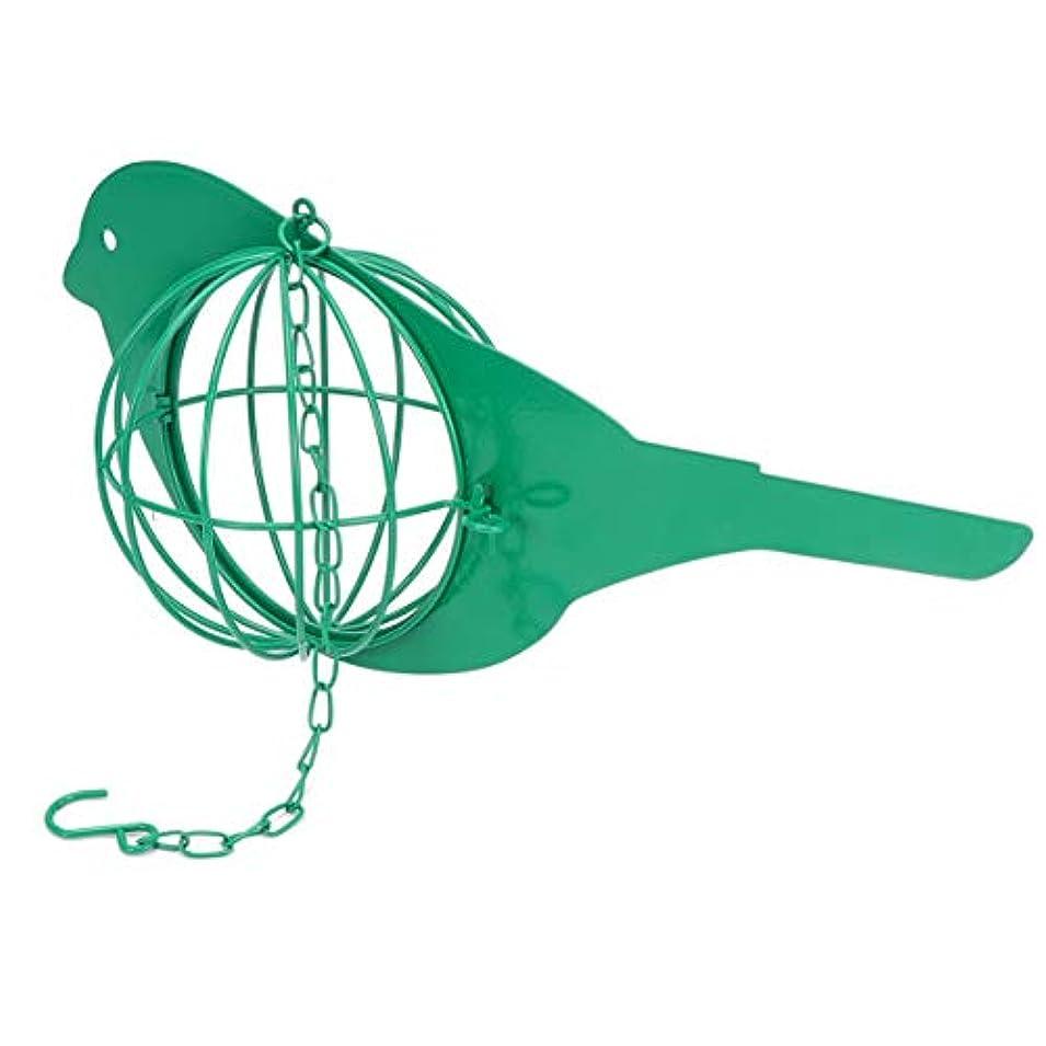 蒸発する対応アートledmomo Birds Suetケージメタルsuet Bird Feeder開閉式メッシュボールbirds Supplie for Travelアウトドア(グリーン)