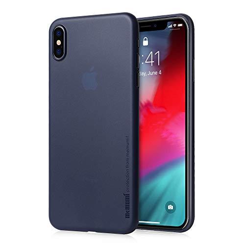 iPhone XS Max ケース 超薄型 memumi® アイフォンXS Max カバー スリム 0.3 PPハードケース Qi充電対応 指紋防止 一体感 ボタン保護 人気 (iPhone XS Max [6.5], クリアブルー)