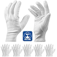 コットン手袋 綿 手荒れ予防 【湿疹用 乾燥肌用 保湿用 礼装用】純綿100% 白手袋 作業用 インナー手袋