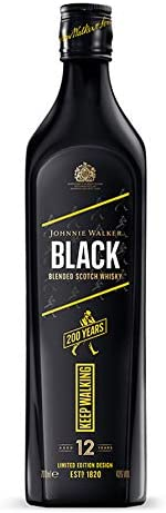 ジョニーウォーカー ブラックラベル 12年 2020年 限定デザイン [ ウイスキー 40 イギリス 700ml 瓶 ボックス無し]