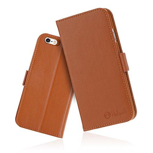 iPhone6s ケース 手帳型 iPhone6カバー 財布型 サイドマグネット式 カード収納 スタンド機能 高級PUレザー iPhone6ケース 耐衝撃 アイフォン6 手帳型ケース 全面保護 耐摩擦 人気 おしゃれ Hohosb(iPhone6s/6用, オレンジ)