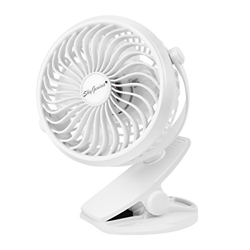 USB扇風機 クリップ式 卓上扇風機 360度角度調整 首振り 充電式 2600mAhバッテリー付き 静音 強力 最大6時間動作可能 ミニファン 車 トイレ ベビーカー キャンペン用 ホワイト