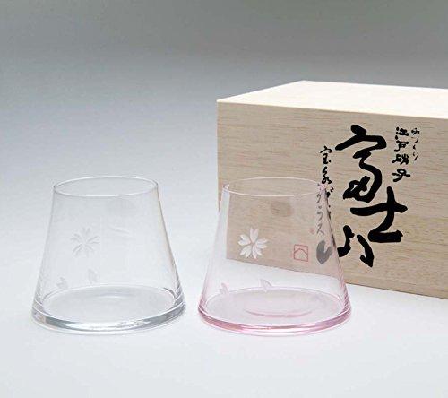 【手づくり江戸硝子】 ビールを注ぐと富士山が現れる! 田島硝子...