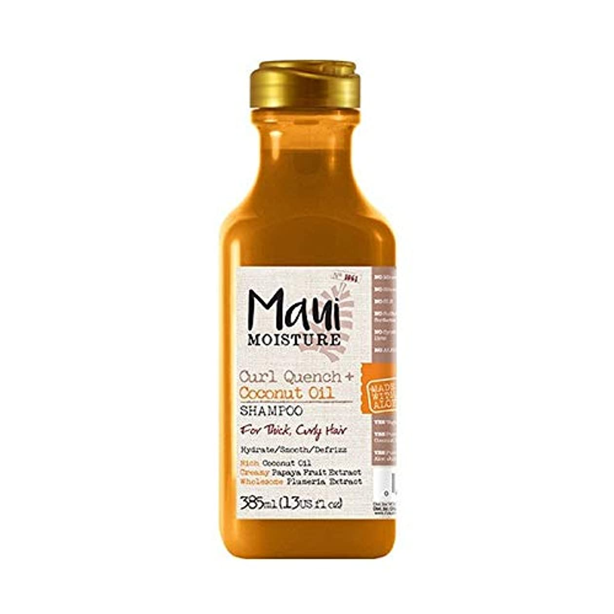 不安定経営者緊急[Maui Moisture ] マウイ水分カールクエンチ+ココナッツオイルシャンプー - Maui Moisture Curl Quench + Coconut Oil Shampoo [並行輸入品]