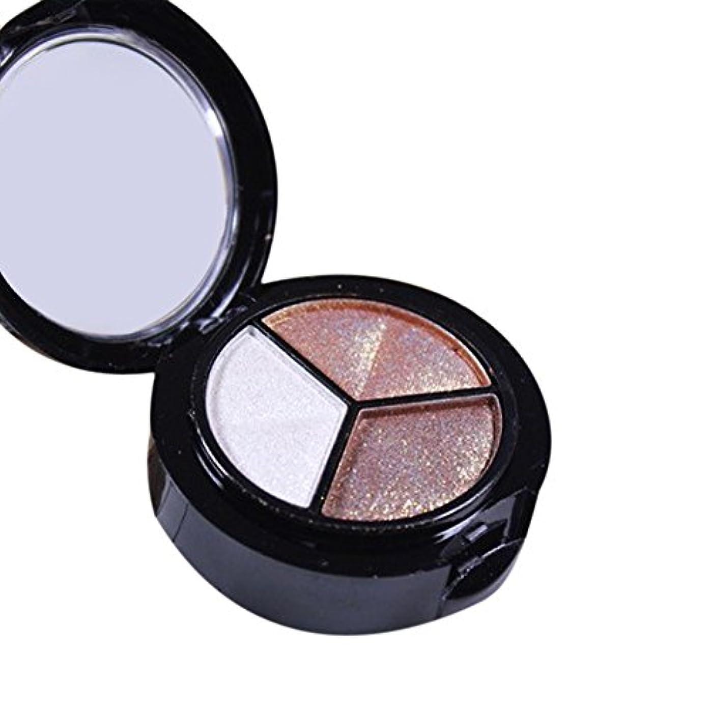へこみ重力トラフアイシャドー YOKINO 多機能 明るい目効果 人気 化粧品 3色/セット スモーキー化粧 (B)