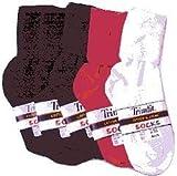 Trimfit Girls Single Cuff Socks US サイズ: L カラー: ホワイト