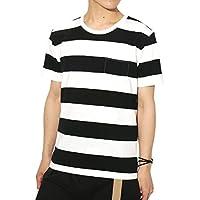 (リピード) REPIDO Tシャツ ボーダー 半袖 クルーネック メンズ ボーダーTシャツ