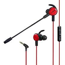 ゲーミングヘッドセット PS4 ヘッドホン スマホゲーム イヤホン 高音質 軽量 360度調整と取り外し可能マイク 1.5mケーブル付き プレイステーション4 Nintendo Switch Xbox One タブレット ノートパソコン iPhone スマートホン などに対応(黒/赤)